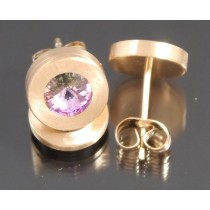 Edelstahl - Ohrstecker PVD rosé Gold Crystal Vitrail light Art.123